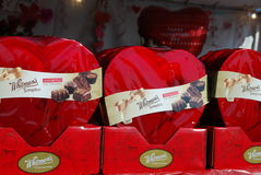 ` S Valentine Chocolate de l'Amérique Photos libres de droits