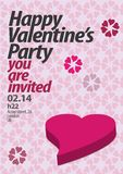 S.valentine`s poster for a party stock illustration
