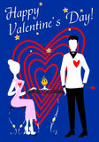 S. Valentine's Lovers Royalty Free Stock Images