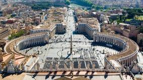 ` S Vatikans St Peter Quadrat Lizenzfreies Stockbild