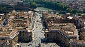 ` S Vatikans St Peter Quadrat Stockfotos