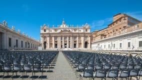 ` S Vatikans St Peter Quadrat Stockbild