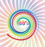 60s vector old retro vintage background. Design illustration Royalty Free Illustration