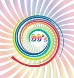 80 s Vector old retro vintage background. Design illustration Royalty Free Stock Photo