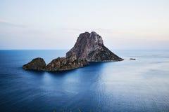 S Vedra bij zonsondergang, Ibiza, Spanje Royalty-vrije Stock Fotografie