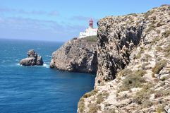 S. Vicente Cape. This cape is the southwesternmost point in Portugal Royalty Free Stock Photos