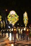 S Vicente Garlands Parade, festividades populares de las vecindades de Lisboa foto de archivo libre de regalías