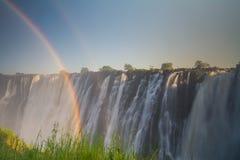 ` S Victoria Falls Замбии стоковое изображение