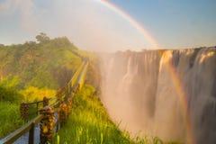 ` S Victoria Falls de l'Afrique image stock