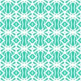 1920s vintage art deco pattern. Simple, elegant linear seamless vector pattern in tropical aqua blue. Texture for web and print, spring fashion fabric or textile Stock Photo