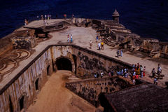 1960's Vintage Image of a Spanish Fort. Royalty Free Stock Photo