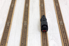 1950s Vintage Model Steam Locomotive on the Rails Royalty Free Stock Photos