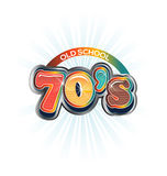 70s Vintage old school image logo Royalty Free Stock Photography