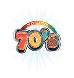 70s Vintage old school image logo. Text art Royalty Free Illustration