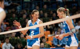 s-volleybollkvinnor Royaltyfria Foton