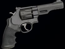 S&W 357 Magnum. Magnum 357 was isolated on a black background royalty free stock image