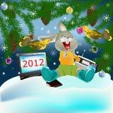 s wakacyjny nowy rok royalty ilustracja