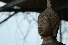 Buddha statue on the hill stock photography