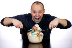 That's what I call a bowl of ice cream. Royalty Free Stock Photo
