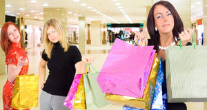 That's what we've bought. Of Gorgeous shopping women series Royalty Free Stock Image