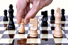 It's whites turn on chess board Royalty Free Stock Photos