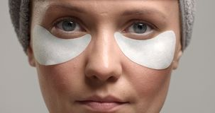 30`s woman with an eye patches on Stock Image