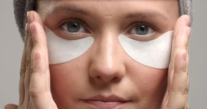 30`s woman with an eye patches on Stock Photo