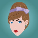 60s Woman Hair Style. 60s Woman Hair Style EPS10 Stock Image