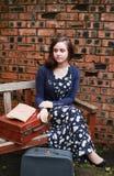 1940s woman stock photo