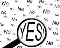 Sí y no Fotografía de archivo libre de regalías