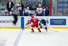 S Yegorshev (2) vs V Solodukhin (17) Zdjęcie Stock