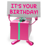 It?s Your Birthday Sign Means Presents and Gifts Royalty Free Stock Photos