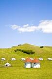 游牧人s帐篷yurt 免版税库存照片