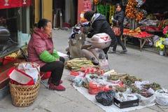 ` S Zhejiang Songyang Ming de China y calles de Qing de artesanos Fotografía de archivo libre de regalías