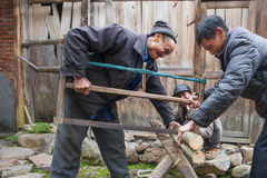 ` S Zhejiang Songyang Ming de China y calles de Qing de artesanos Fotos de archivo libres de regalías