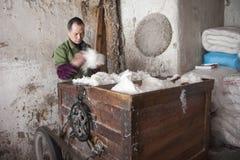 ` S Zhejiang Songyang Ming de la Chine et rues de Qing des artisans Images stock