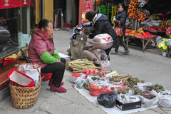 ` S Zhejiang Songyang Ming de la Chine et rues de Qing des artisans Photographie stock libre de droits