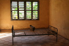 S21 Prison bed 3. Prison bed used in the infamous s21 prison in Cambodia. More than 11,000 people were brought to the prison, tortured and then murdered. Even stock photos