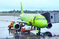S7 Airlines Airbus A319 Stock Photos