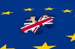 Saída de Grâ Bretanha da imagem do parente da União Europeia Fotos de Stock Royalty Free