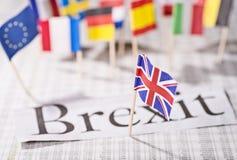 A saída de Grâ Bretanha da UE foto de stock