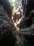 Saída do rio da garganta no verão fotografia de stock royalty free