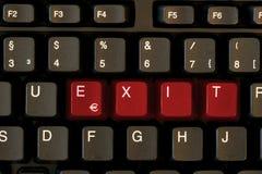 SAÍDA do teclado Imagem de Stock Royalty Free