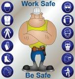 Saúde & segurança da construção Fotografia de Stock Royalty Free