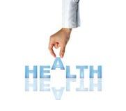 Saúde da mão e da palavra Imagem de Stock Royalty Free