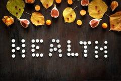 Saúde do conceito - tratamento com chá e medicina quentes Imagem de Stock