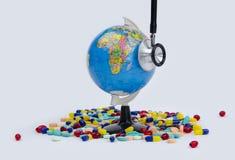 Saúde do globo imagens de stock royalty free