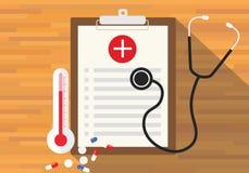 Saúde do informe médico na prancheta Imagem de Stock Royalty Free