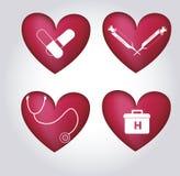Saúde dos ícones Imagens de Stock Royalty Free