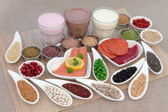 Saúde e alimento do body building foto de stock